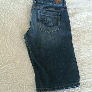 X2 denim shorts
